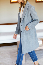 Emerson Fry Tailored Wool Coat - Back cropped