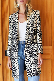 Emerson Fry EMERSON FRY WINGTIP LEOPARD COAT - Front cropped