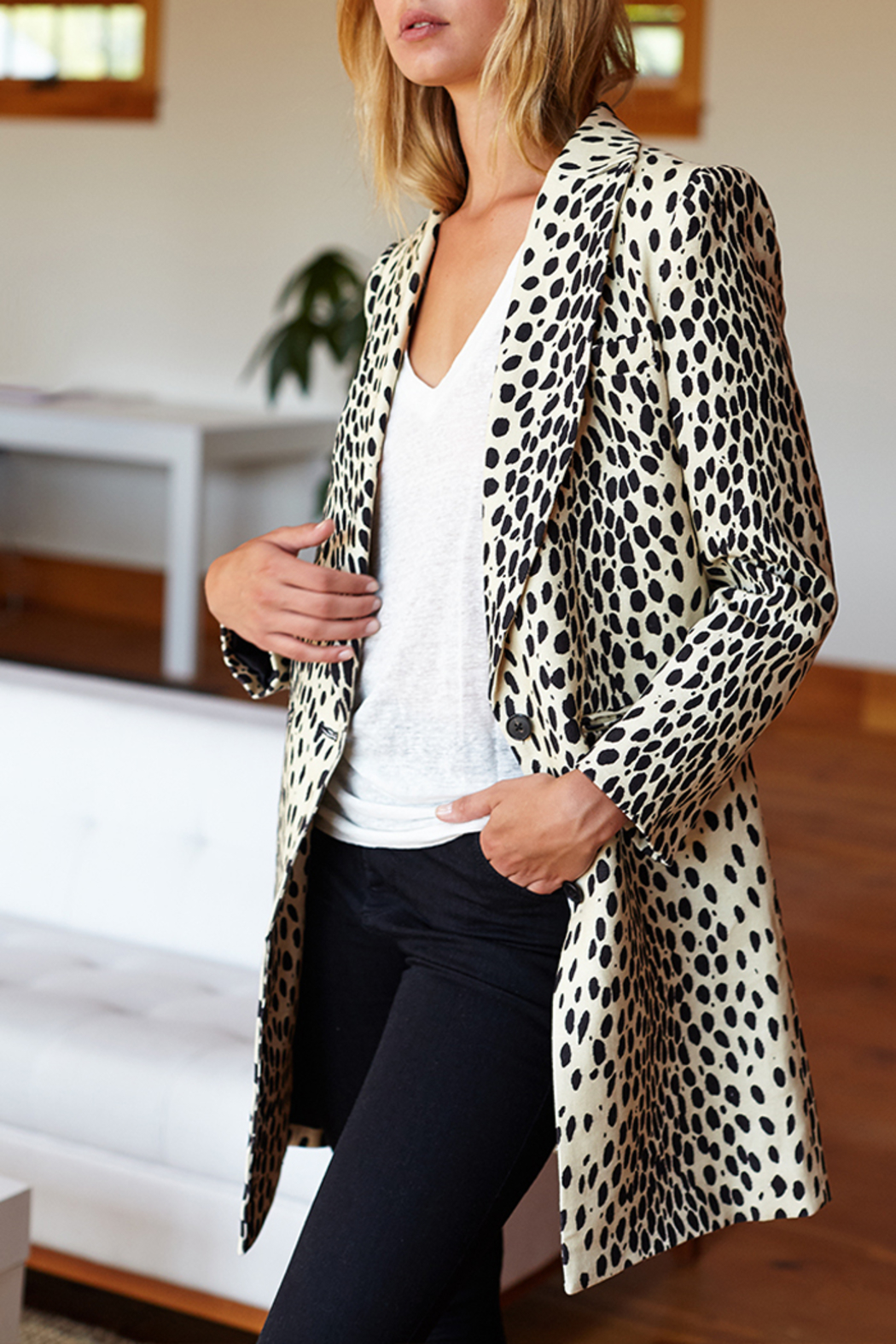 Emerson Fry EMERSON FRY WINGTIP LEOPARD COAT - Side Cropped Image