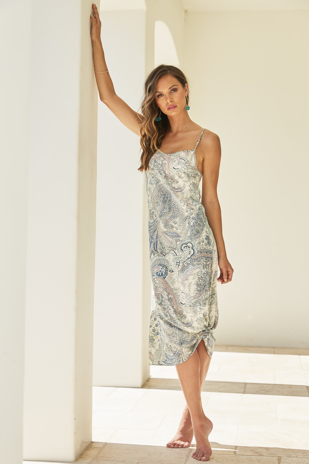 Bishop + Young Emerson Slip Midi Dress - Front Full Image