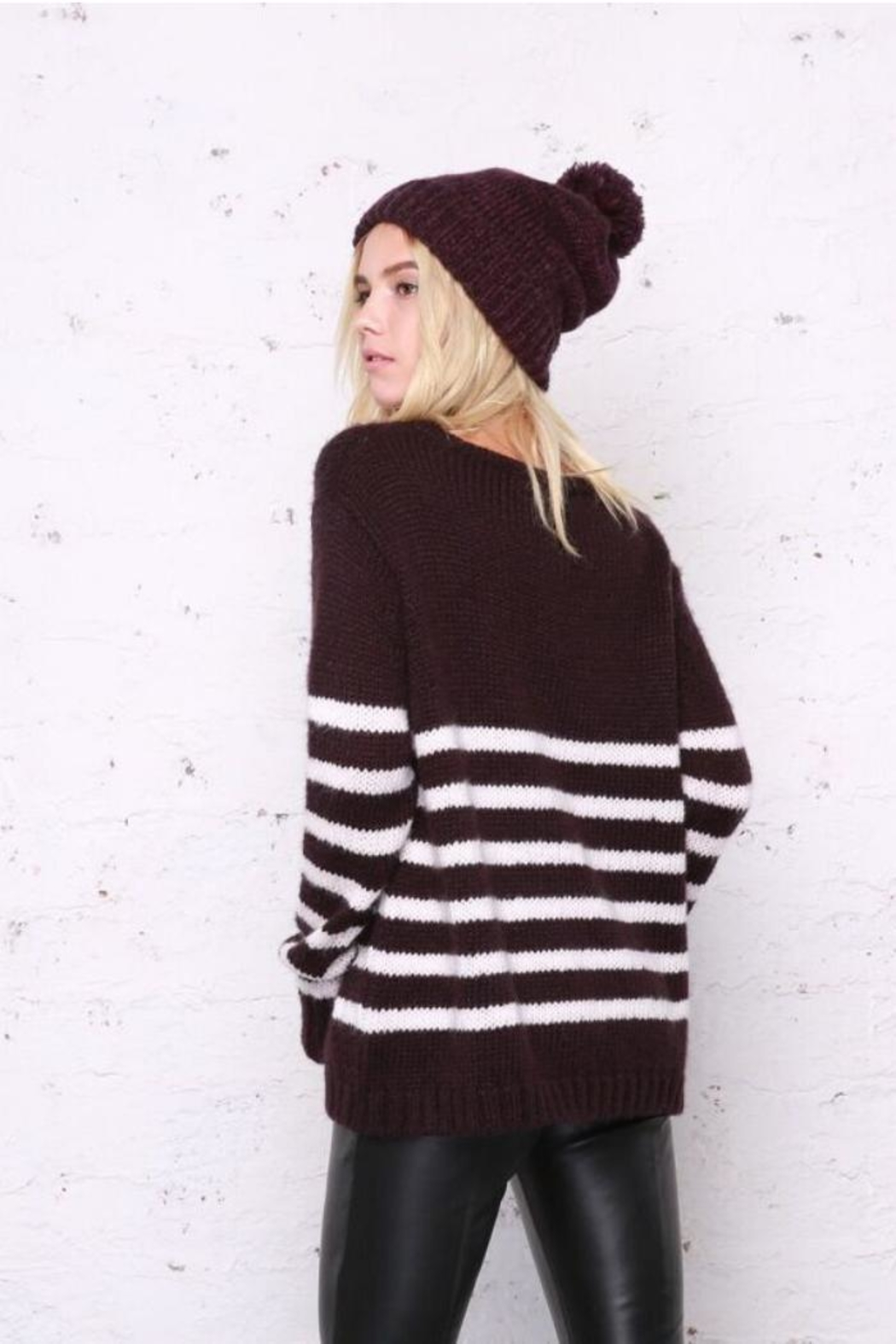Wooden Ships Emerson Stripe Sweater - Side Cropped Image