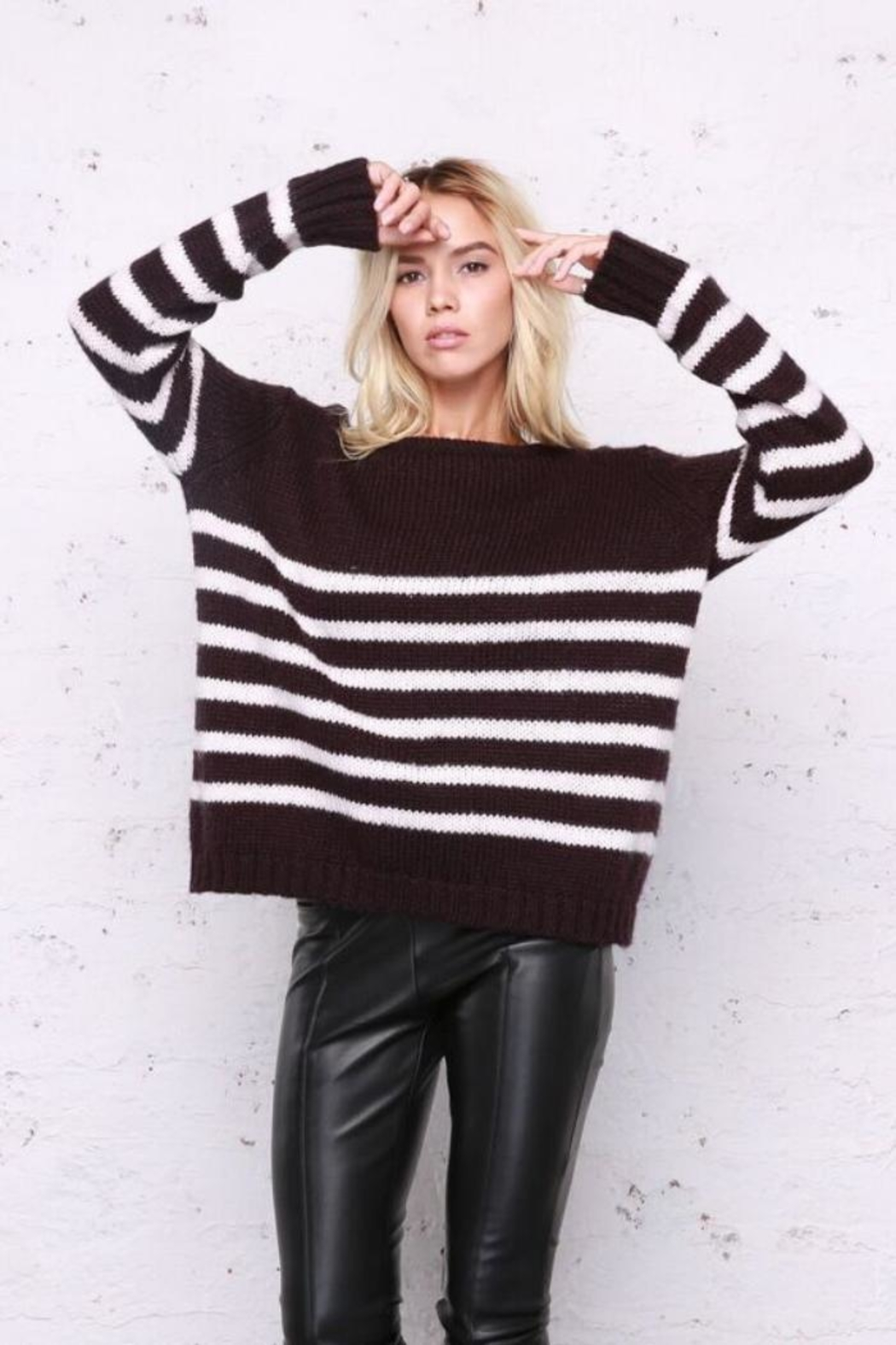 Wooden Ships Emerson Stripe Sweater - Main Image