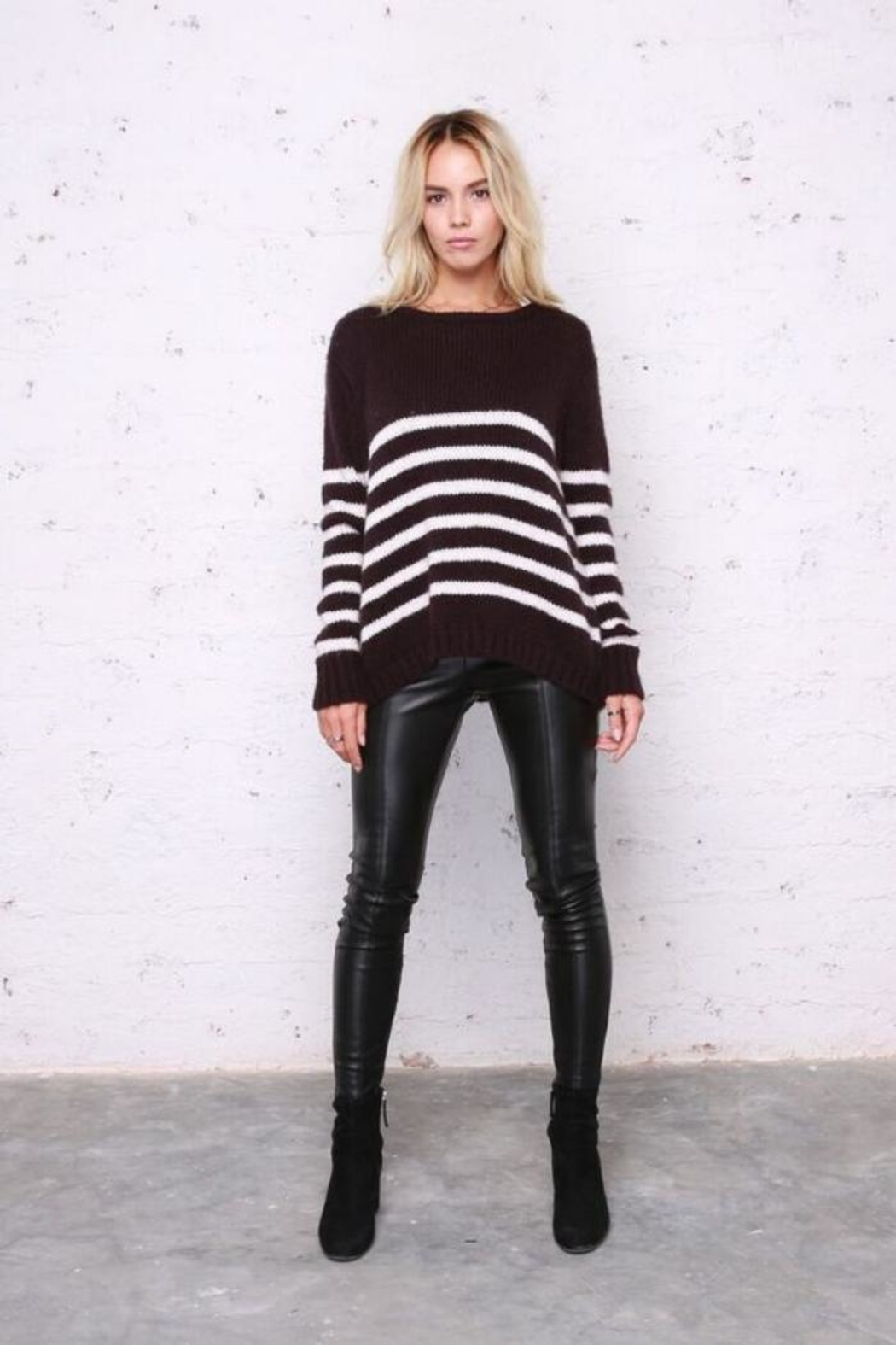 Wooden Ships Emerson Stripe Sweater - Front Full Image