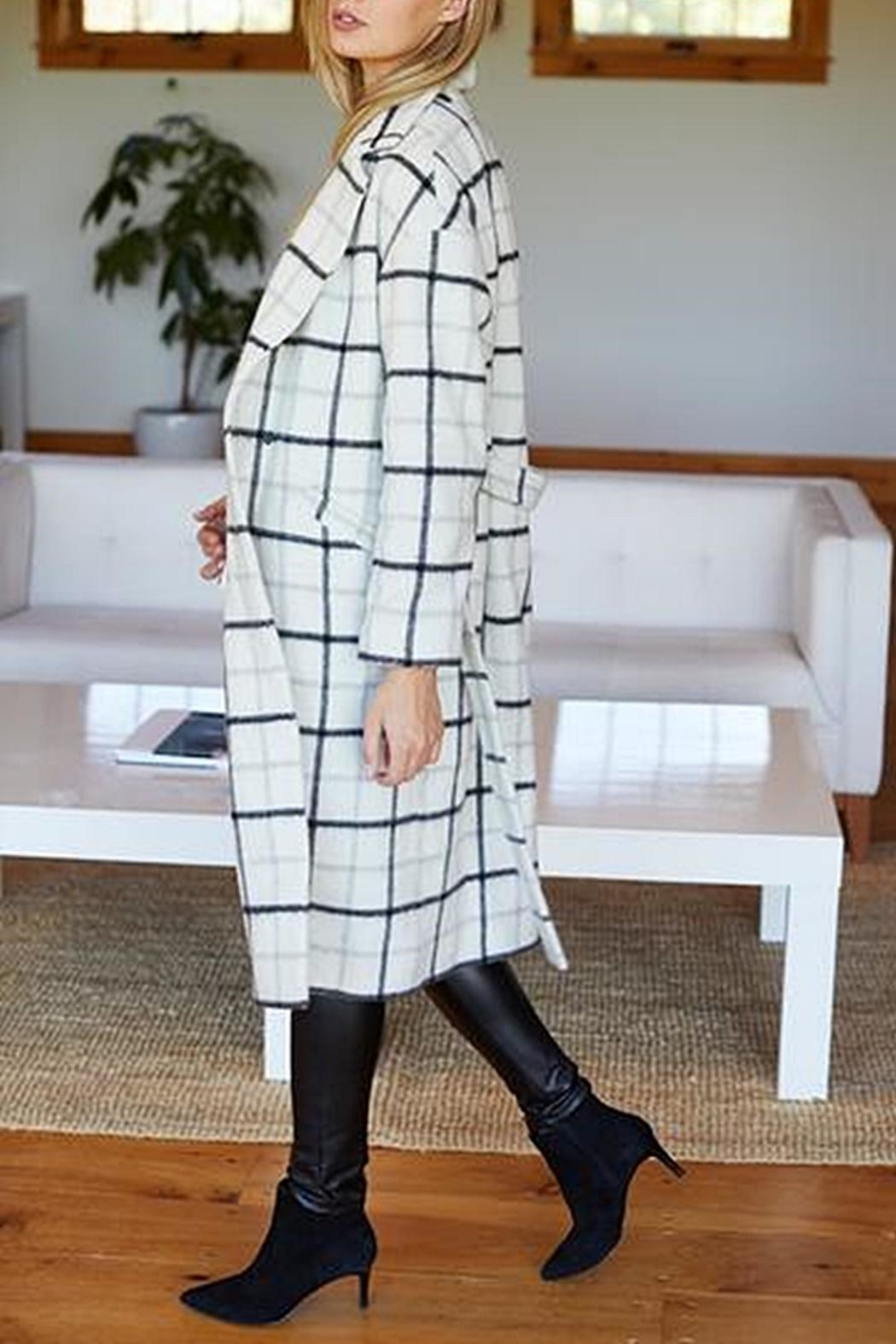 Emerson Fry Drop Shoulder Coat - Back Cropped Image