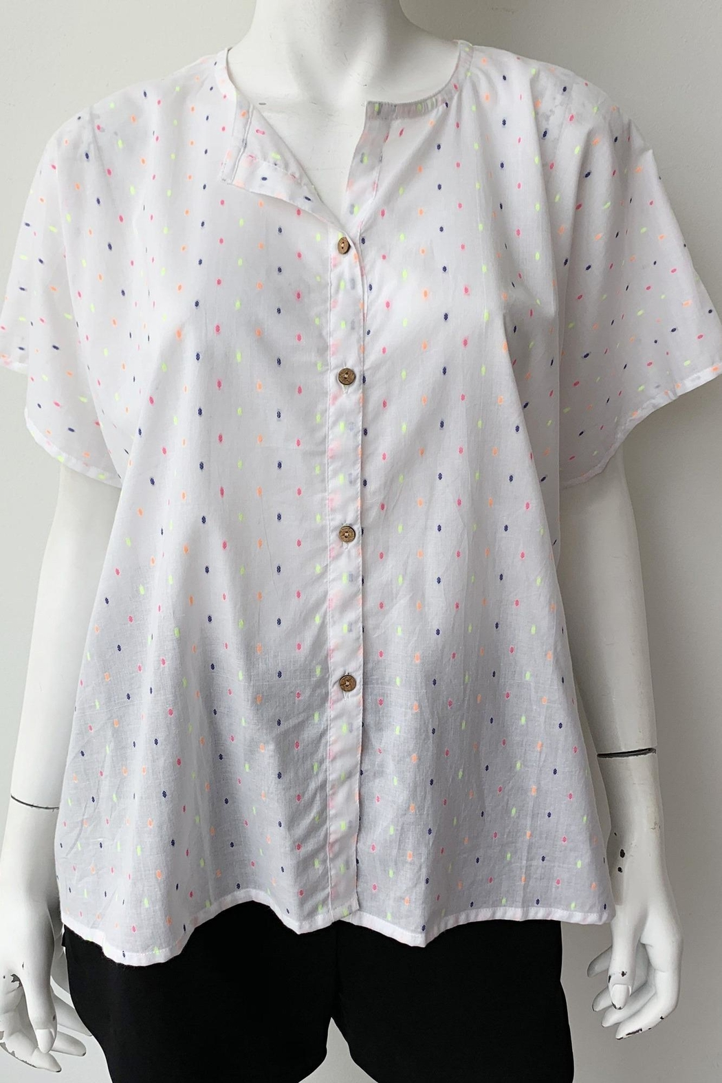 Emerson Fry India Button Down Top - Side Cropped Image