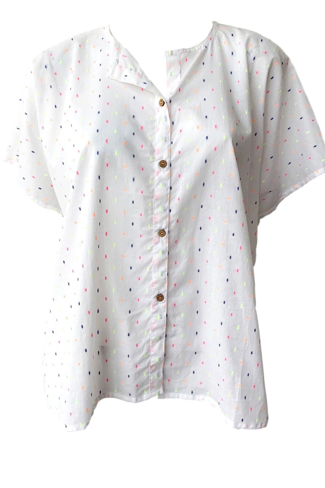 Emerson Fry India Button Down Top - Front Full Image