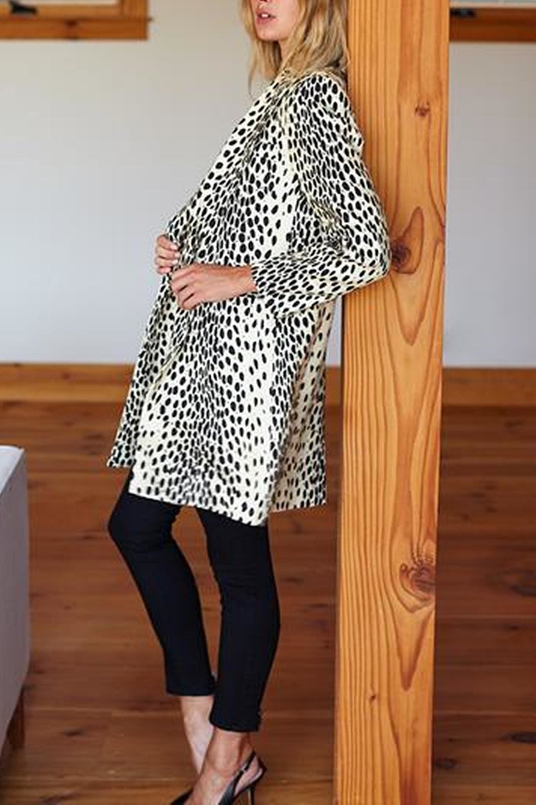 Emerson Fry Wingtip Leopard Coat - Front Full Image