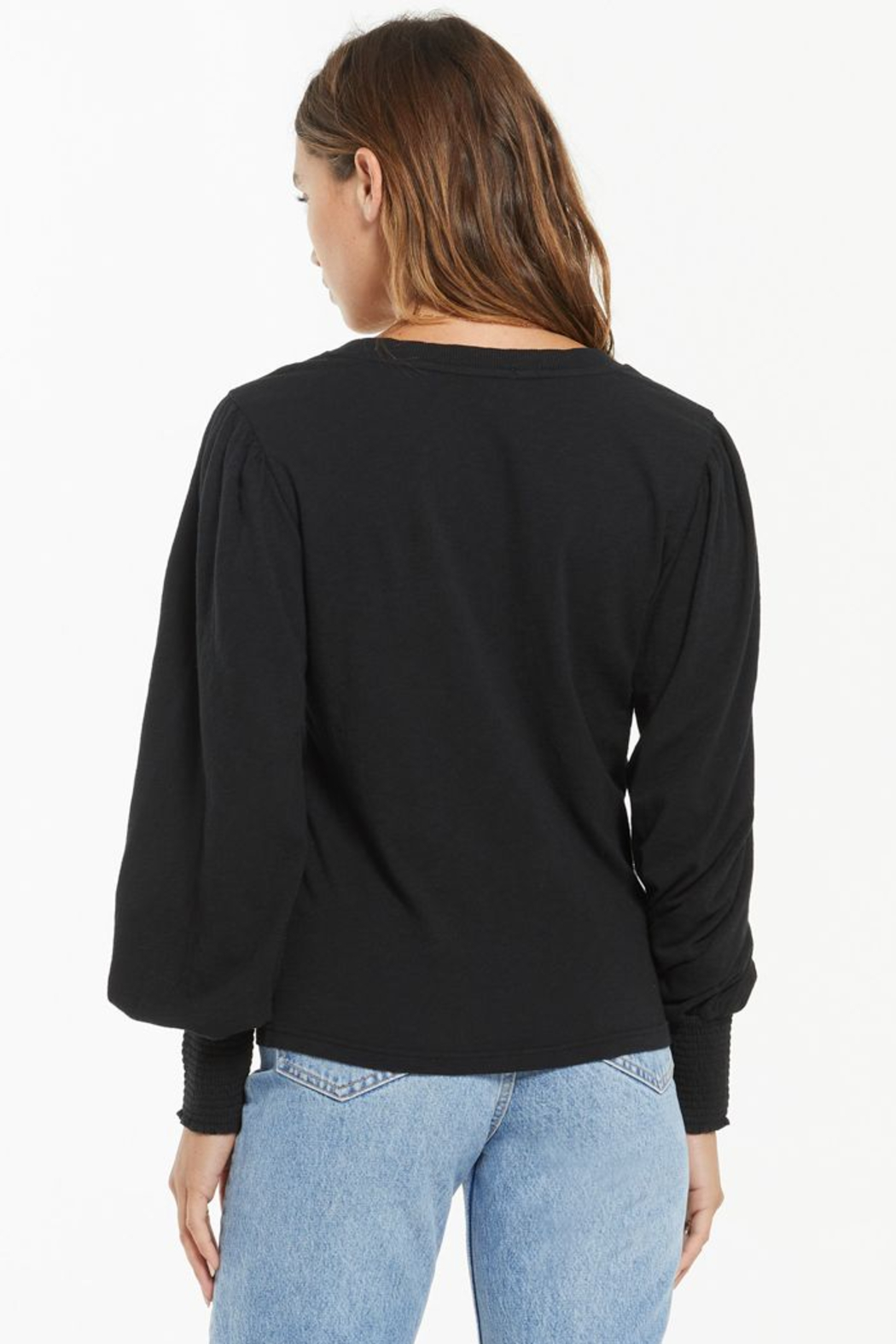 z supply Emery Long Sleeve Top - Front Full Image