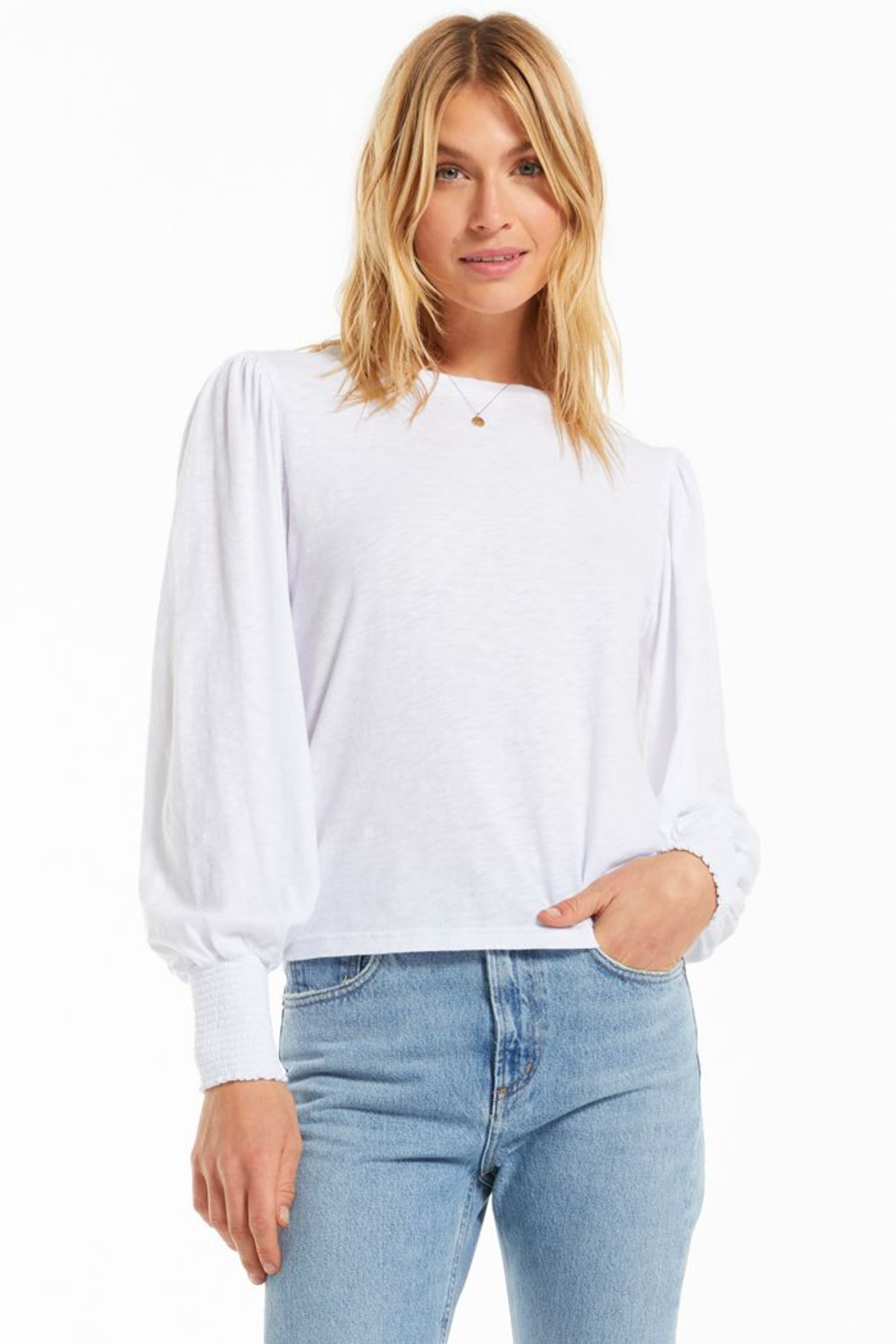 z supply Emery Long Sleeve Top - Front Cropped Image