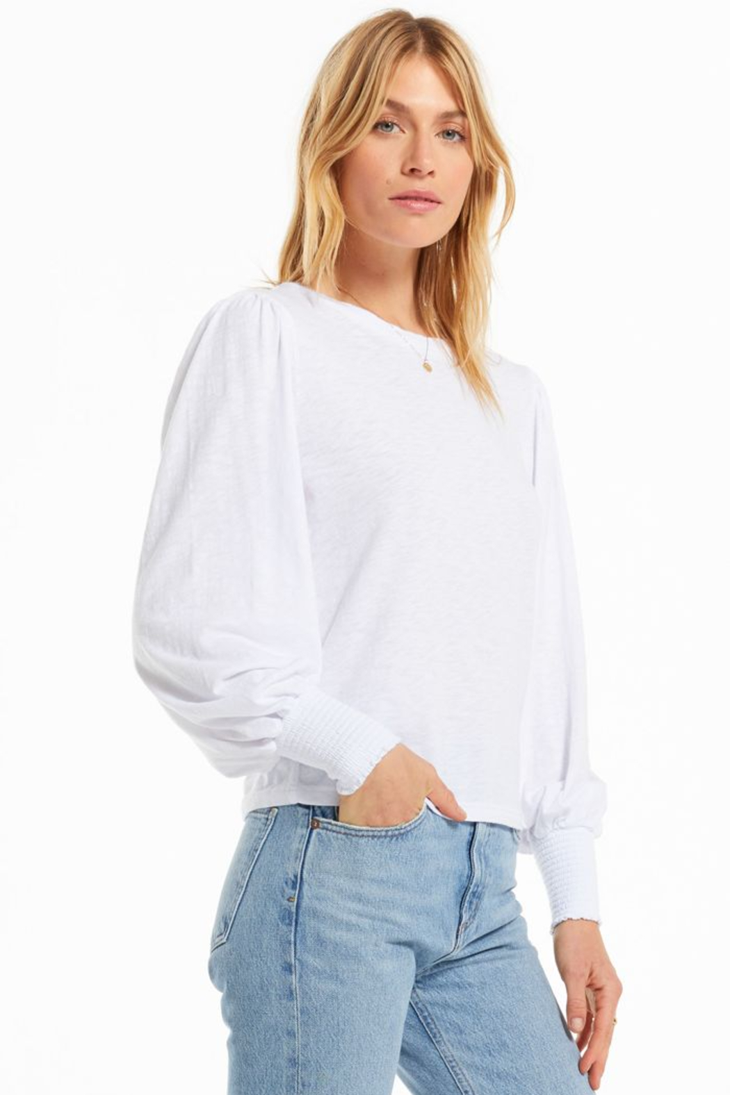 z supply Emery Long Sleeve Top - Side Cropped Image