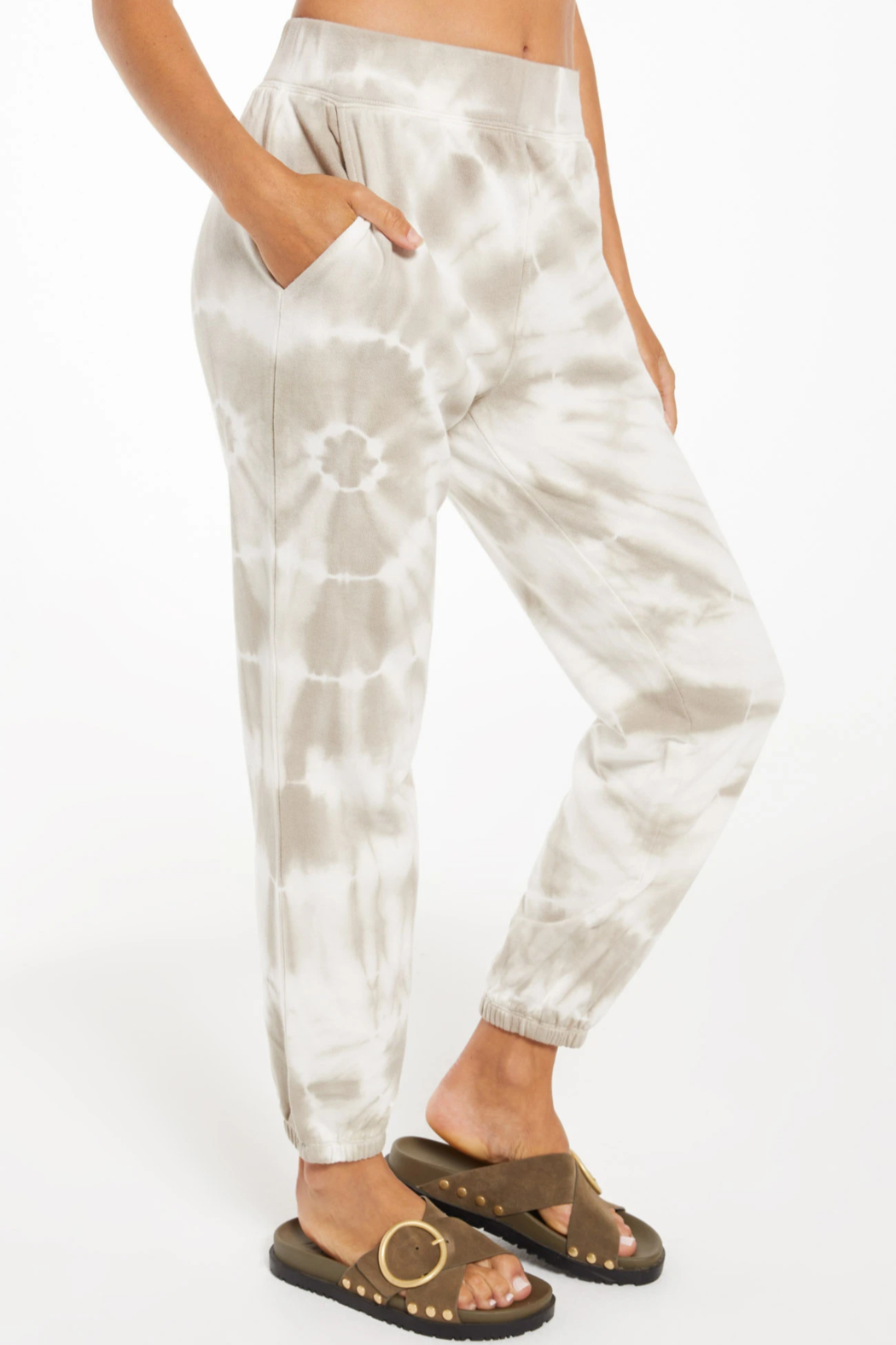 z supply Emery Spiral Tie-Dye Jogger - Back Cropped Image