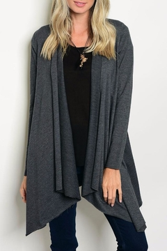 Shoptiques Product: Gray Jersey Cardigan