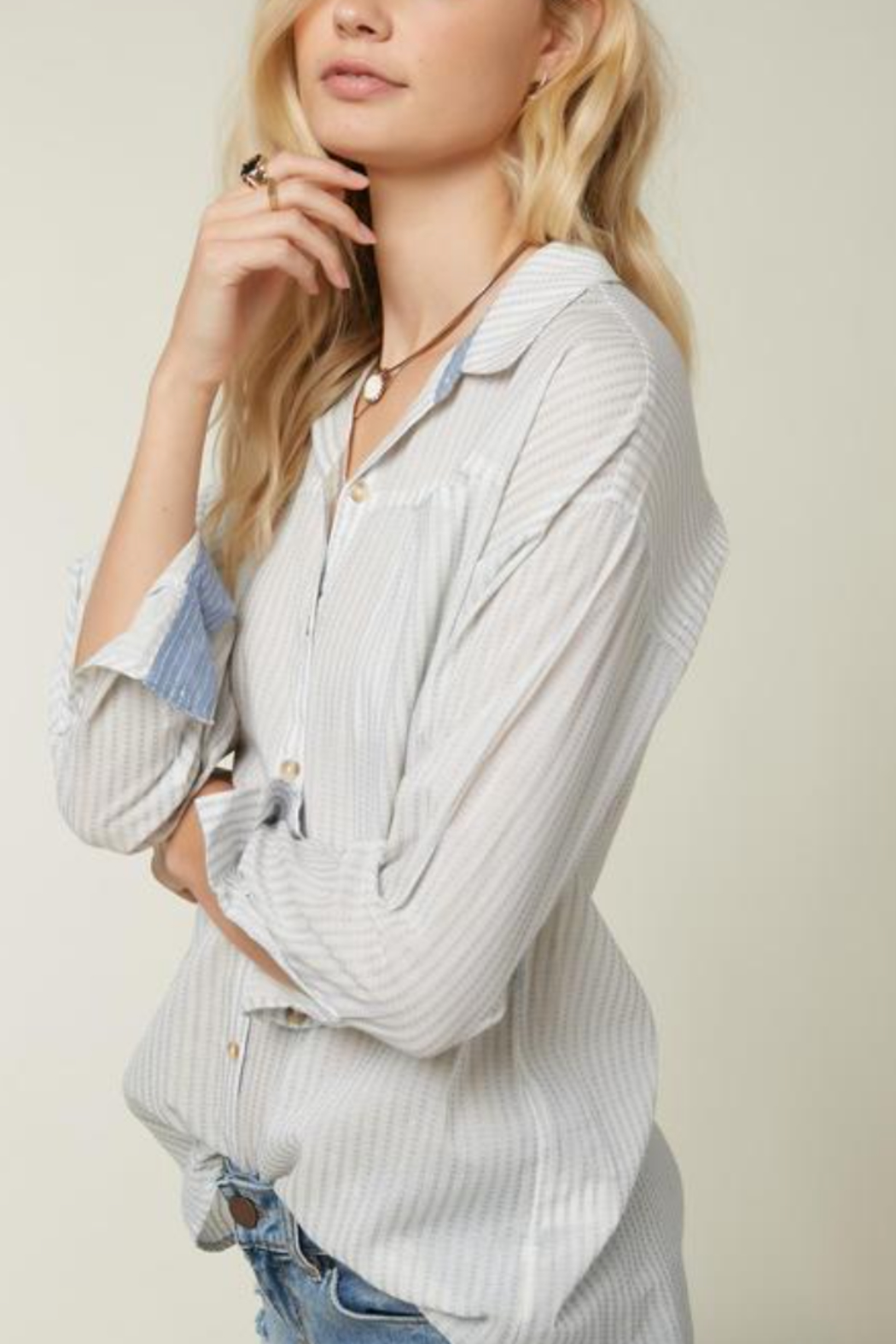O'Neill Emett Button Up Top - Front Full Image