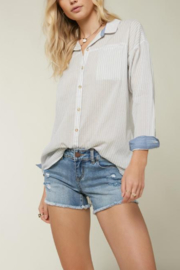 O'Neill Emett Button Up Top - Front cropped