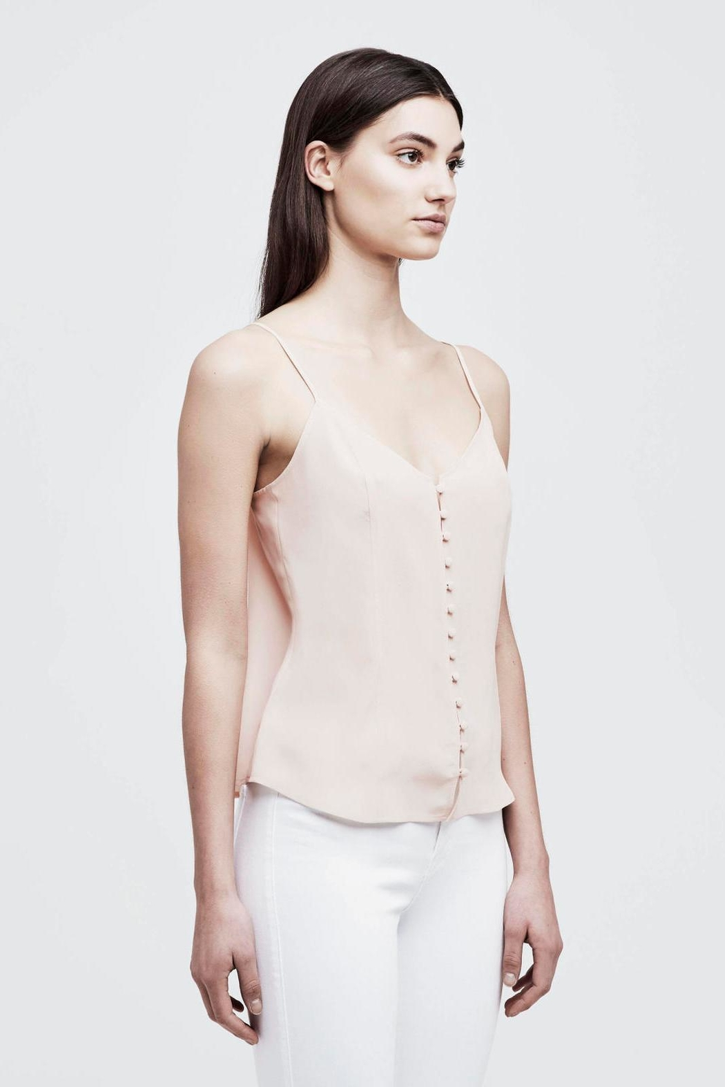 L'Agence Emiliana Button-Up Cami - Front Full Image