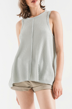Others Follow  Emily Cloud Blue Waffle Tank - Product List Image