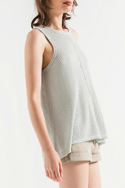 Others Follow  Emily Cloud Blue Waffle Tank - Front full body