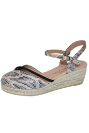 Eric Michael Emily Python Espadrille - Front cropped