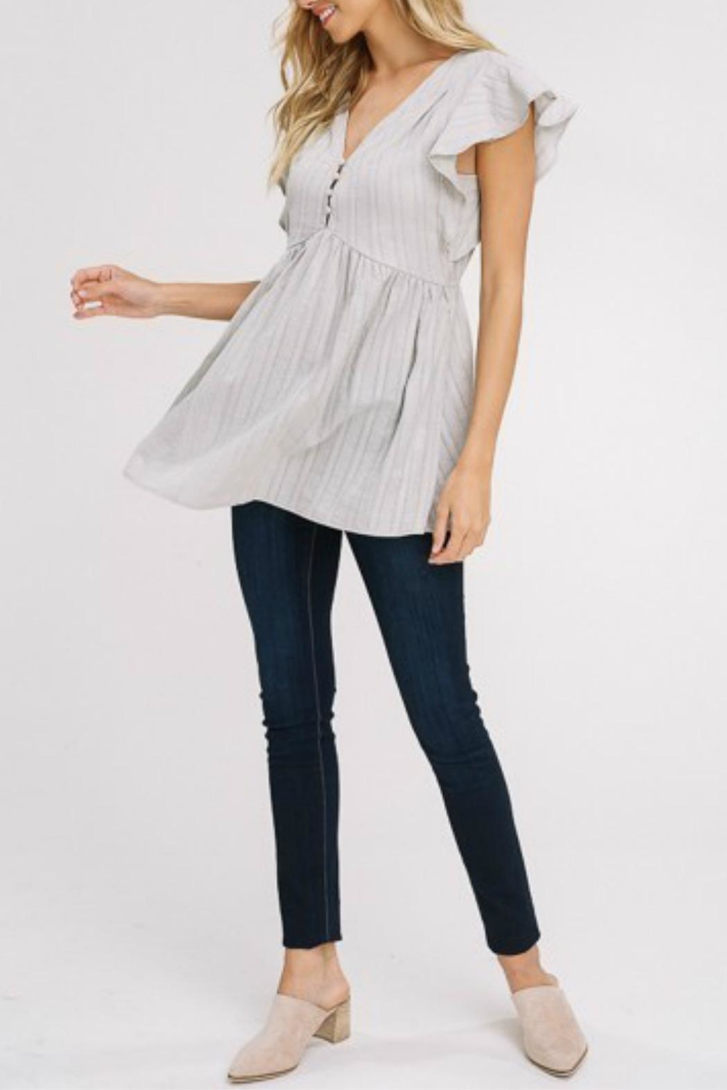 Izzie's Boutique Emily Sage Tunic - Side Cropped Image