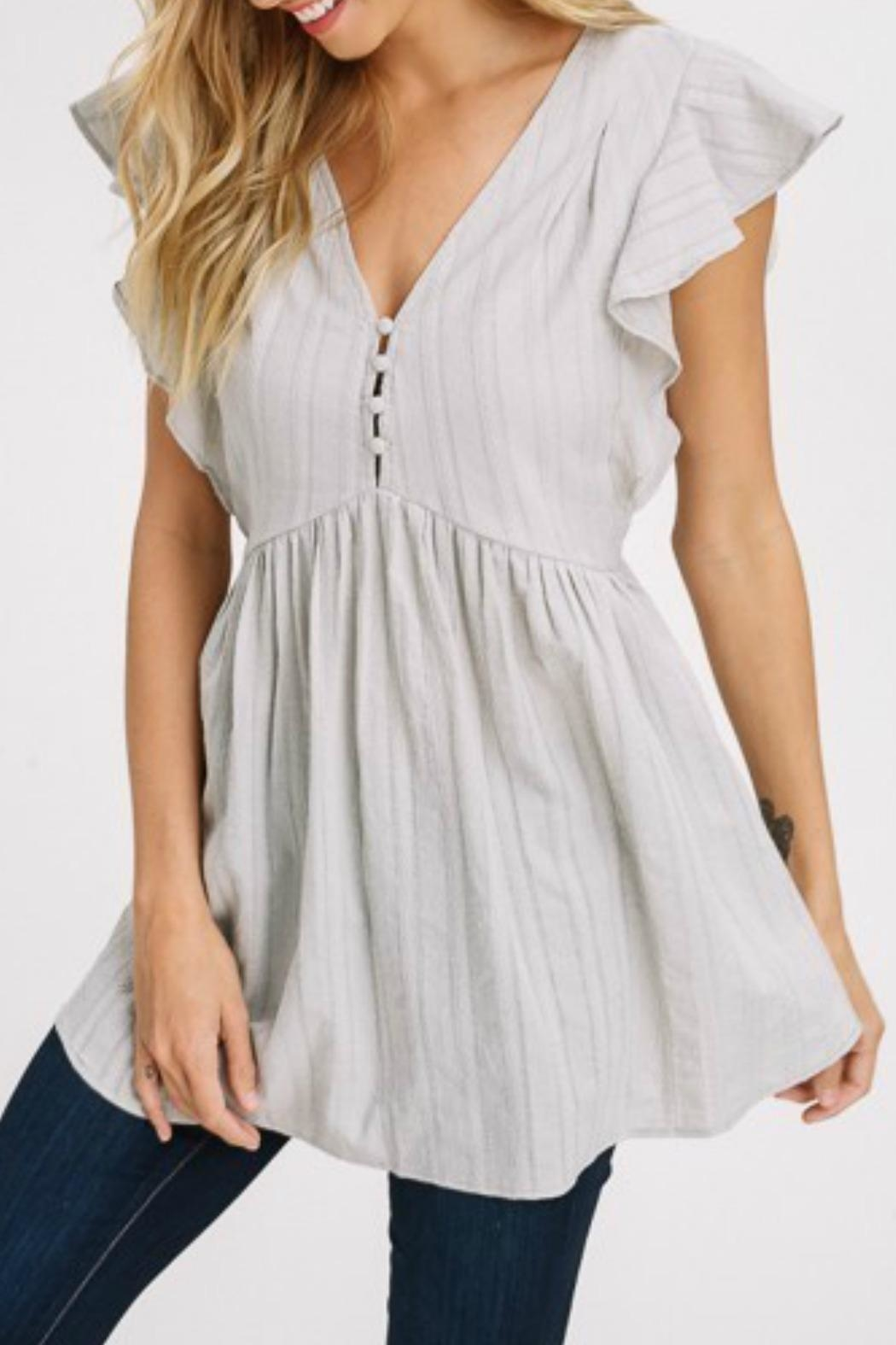 Izzie's Boutique Emily Sage Tunic - Front Full Image