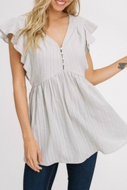 Izzie's Boutique Emily Sage Tunic - Front cropped