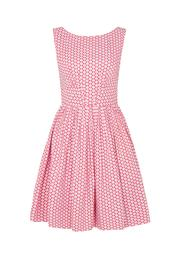 Emily & Fin Baseball Polkadot Dress - Front cropped