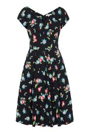 Emily & Fin Black Floral Ada Dress - Front cropped