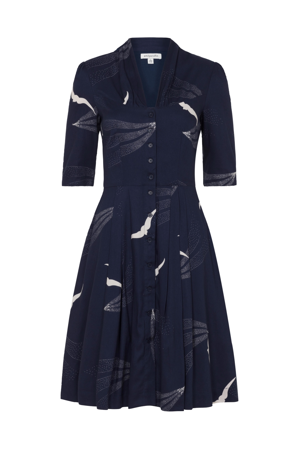 Emily & Fin Bird Button Down Dress - Front Cropped Image
