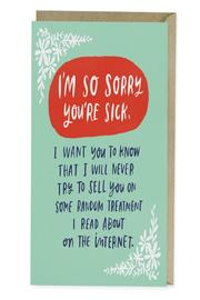 Emily McDowell Get Well Card - Product Mini Image