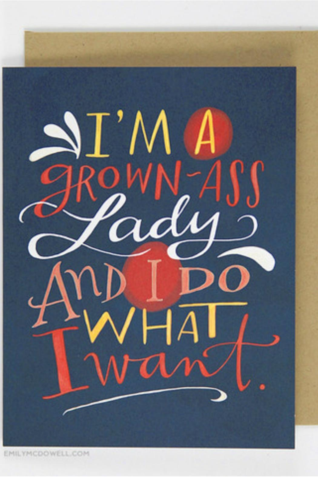 Emily McDowell Grown Ass Lady Card - Front Cropped Image