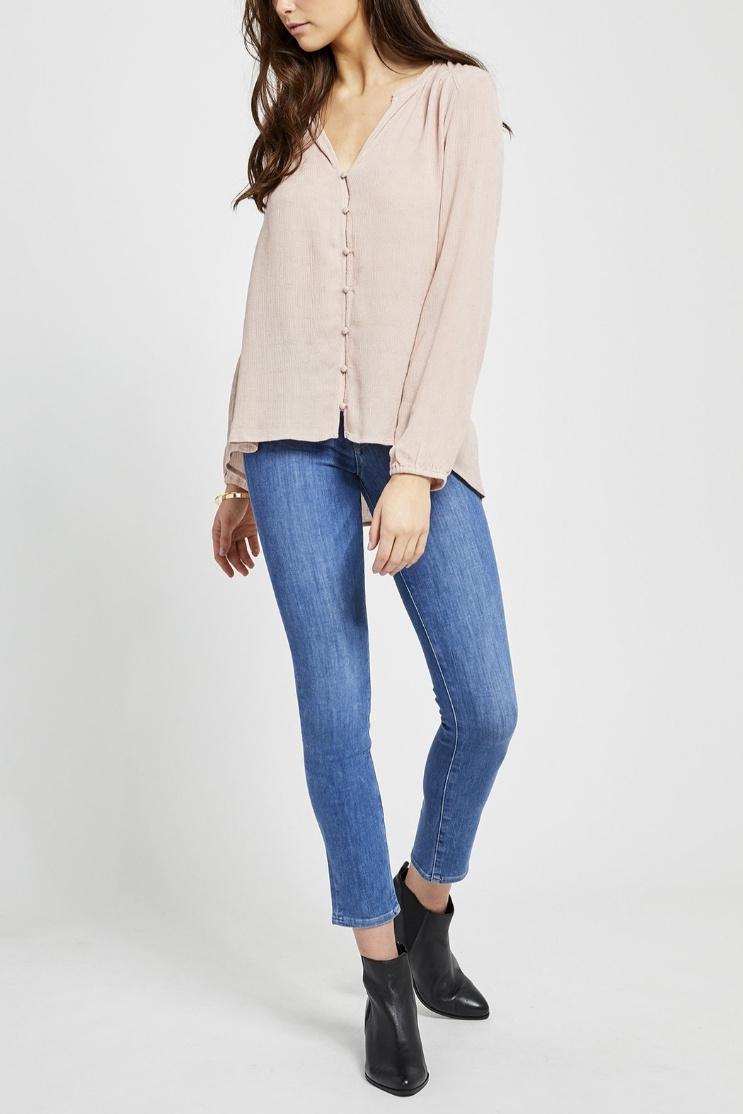 Gentle Fawn Emma Button Blouse - Front Cropped Image