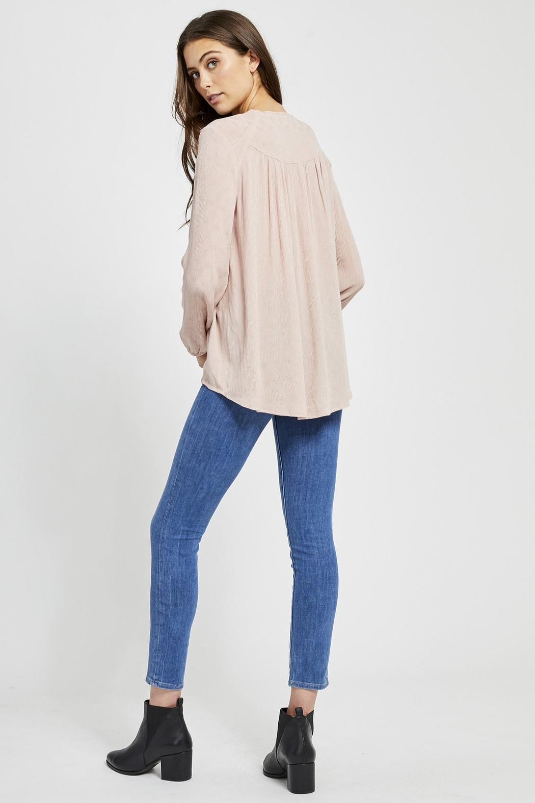 Gentle Fawn Emma Button Blouse - Side Cropped Image