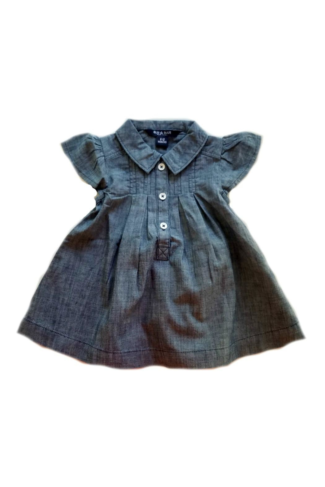 Blu & Blue Emma Chambray Dress - Front Cropped Image