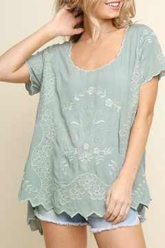 Shoptiques Product: Emma Embroidered Top