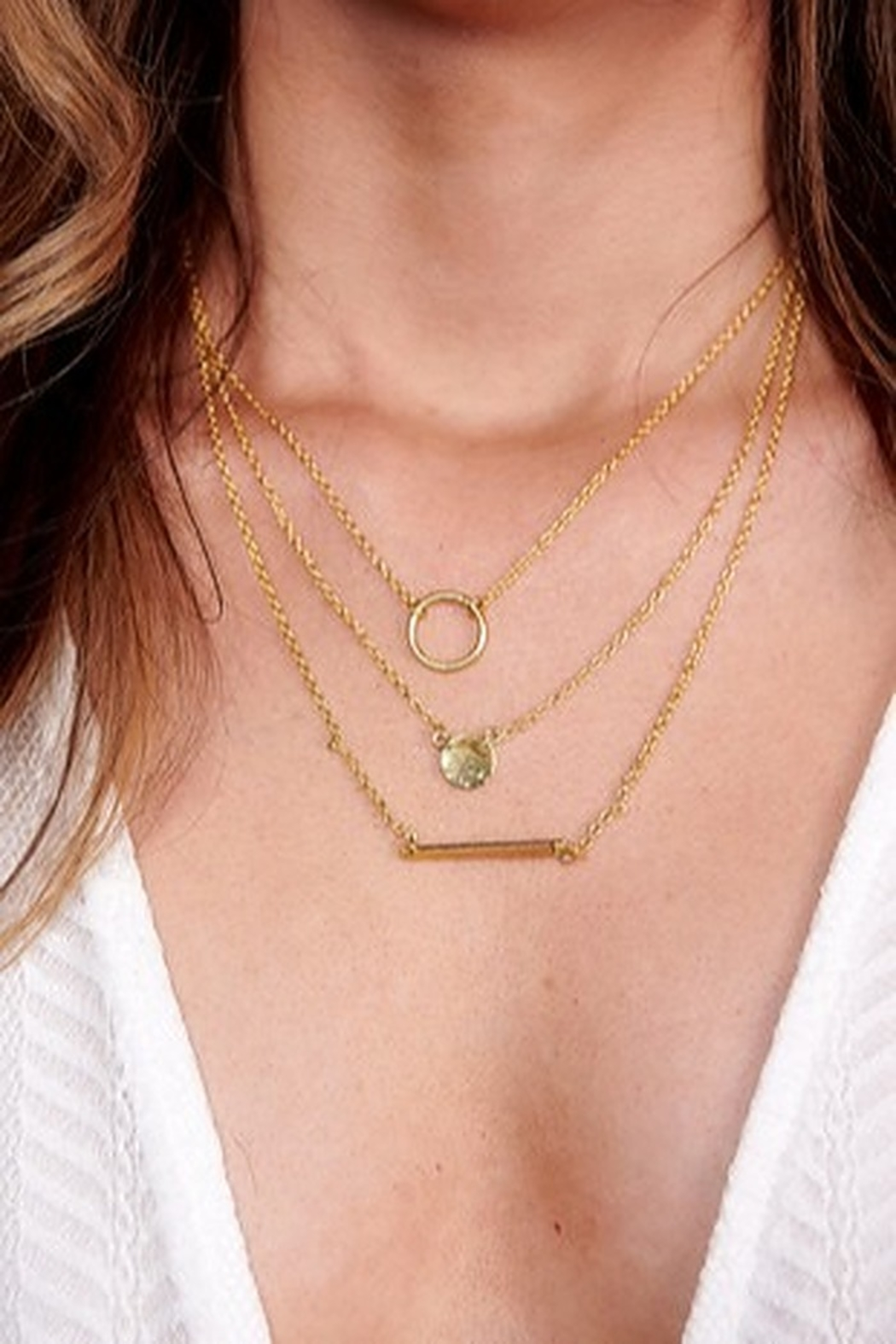 Boho Love EMMA LAYERED NECKLACE GOLD - Front Cropped Image