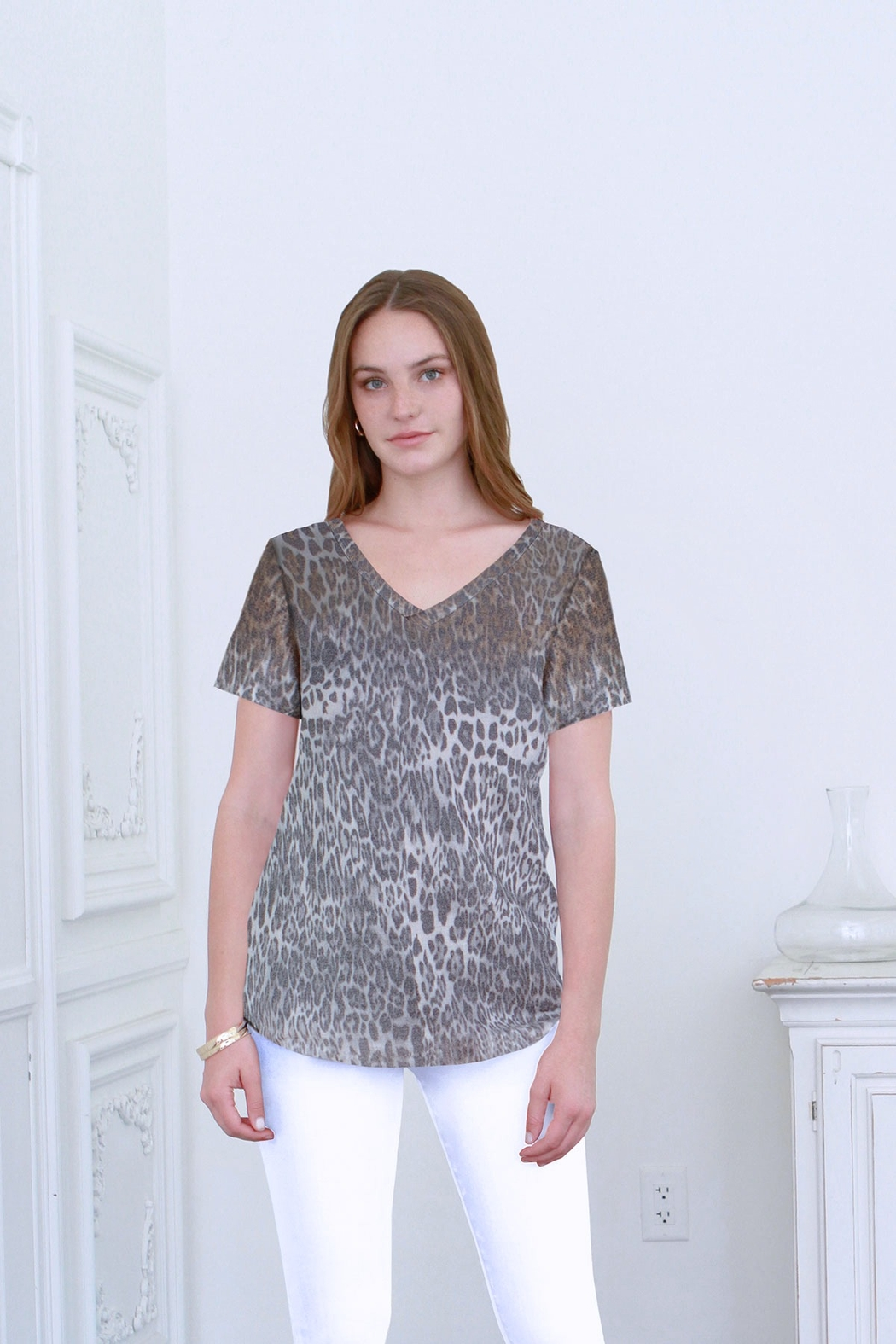 another love  Emma Leopard Fade Top - Main Image