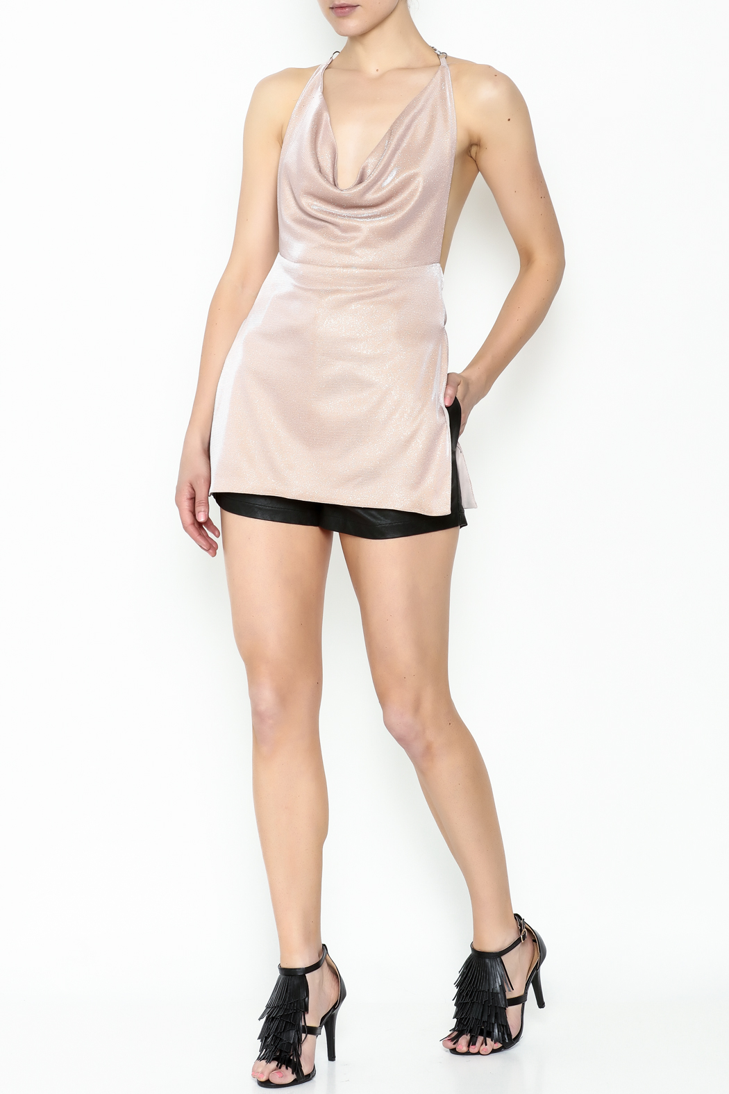 Emma Pink Dress - Side Cropped Image
