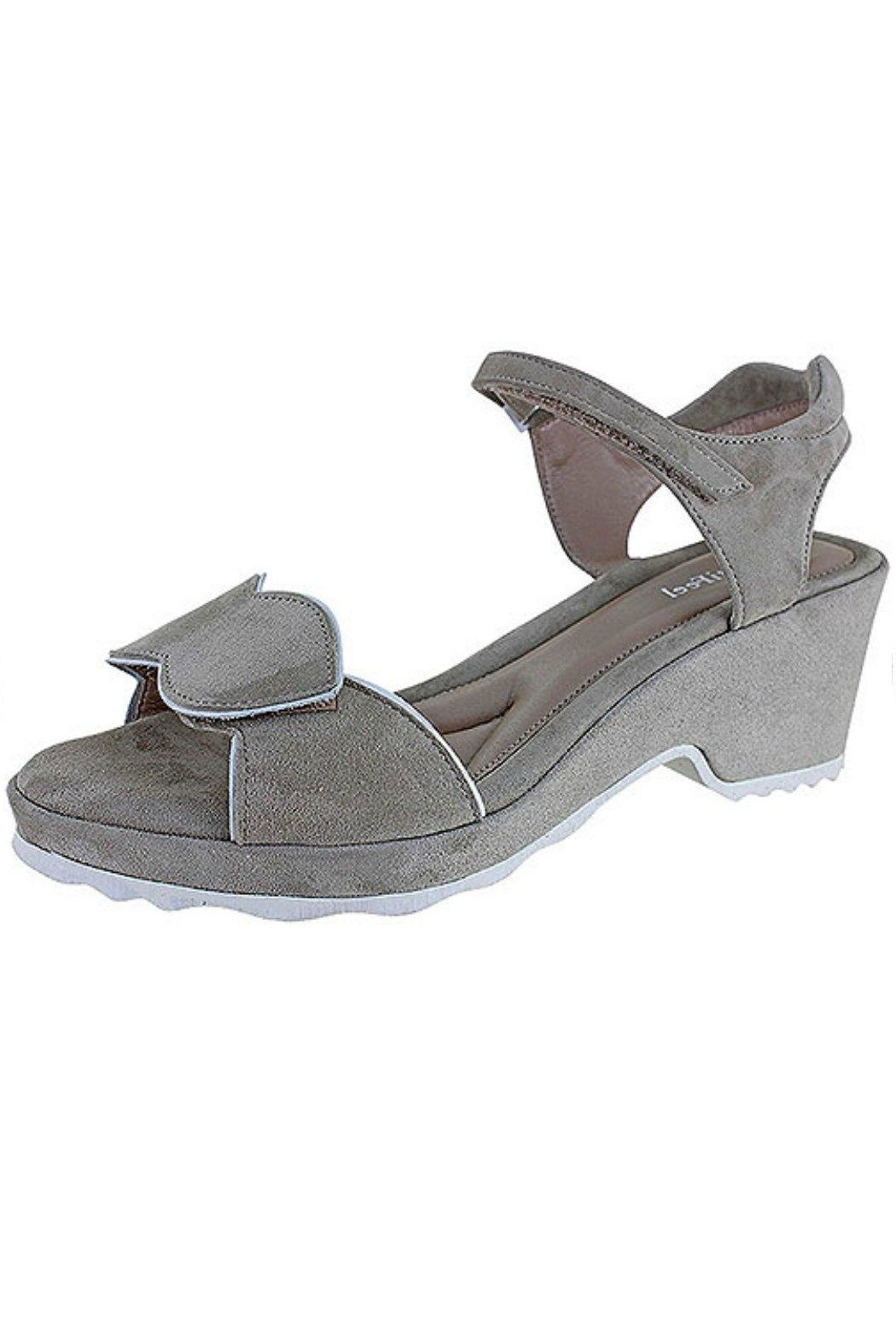 BeautiFeel Emma Suede Sandal - Front Cropped Image