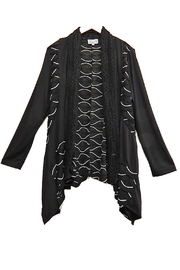 Emma G Black White Cardigan - Product Mini Image
