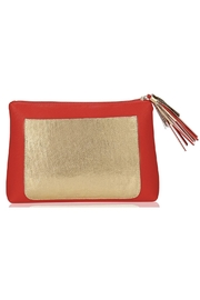Emma Lomax Paint-Town-Red Clutch - Front full body
