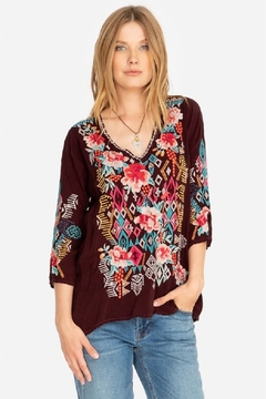 Johnny Was Collection Emmaline Embroidered Blouse - Product List Image
