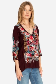 Johnny Was Collection Emmaline Embroidered Blouse - Front full body