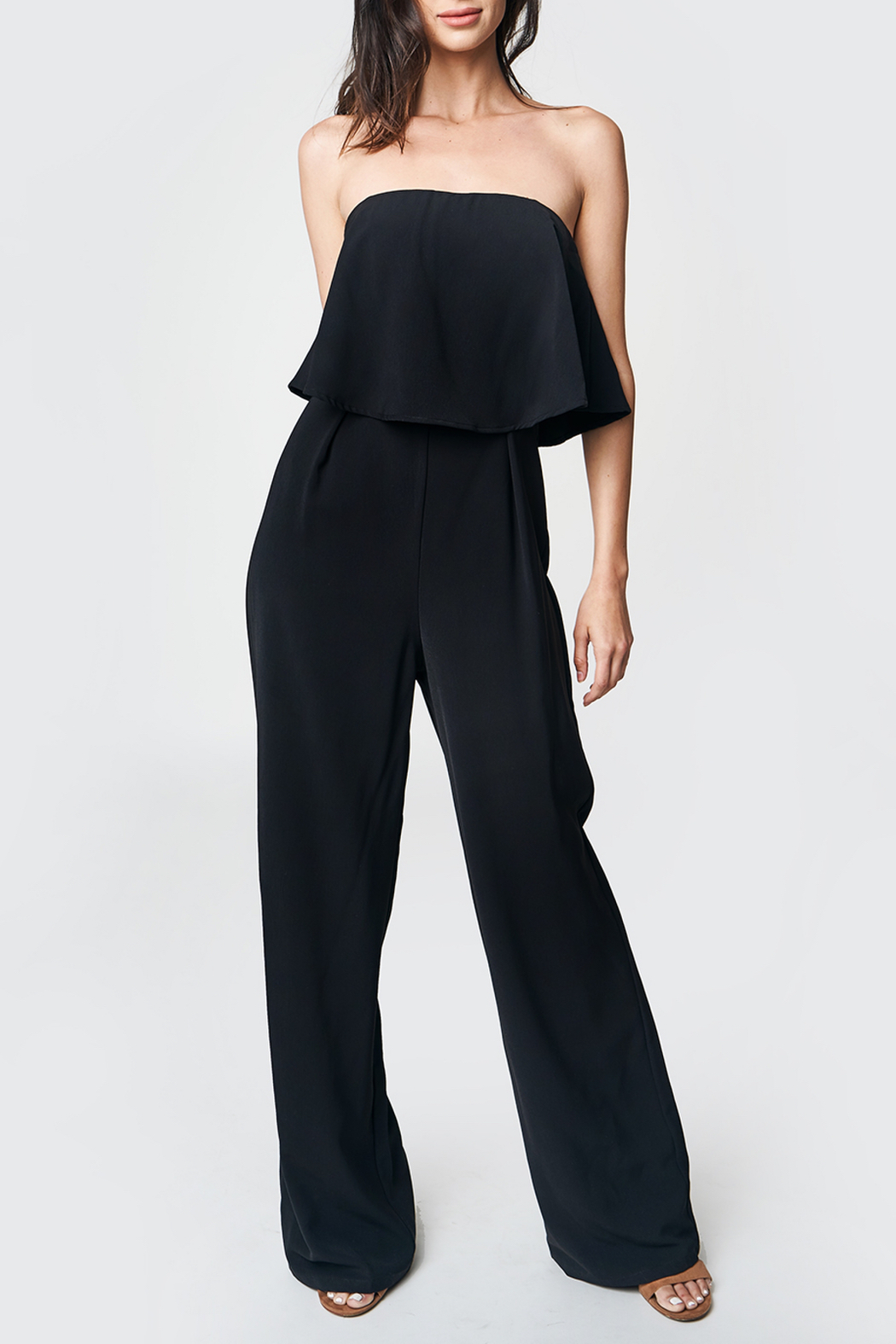 Sugarlips Emmaly Strapless Jumpsuit - Front Full Image