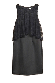 Emma & Michele Black Lace Dress - Product Mini Image