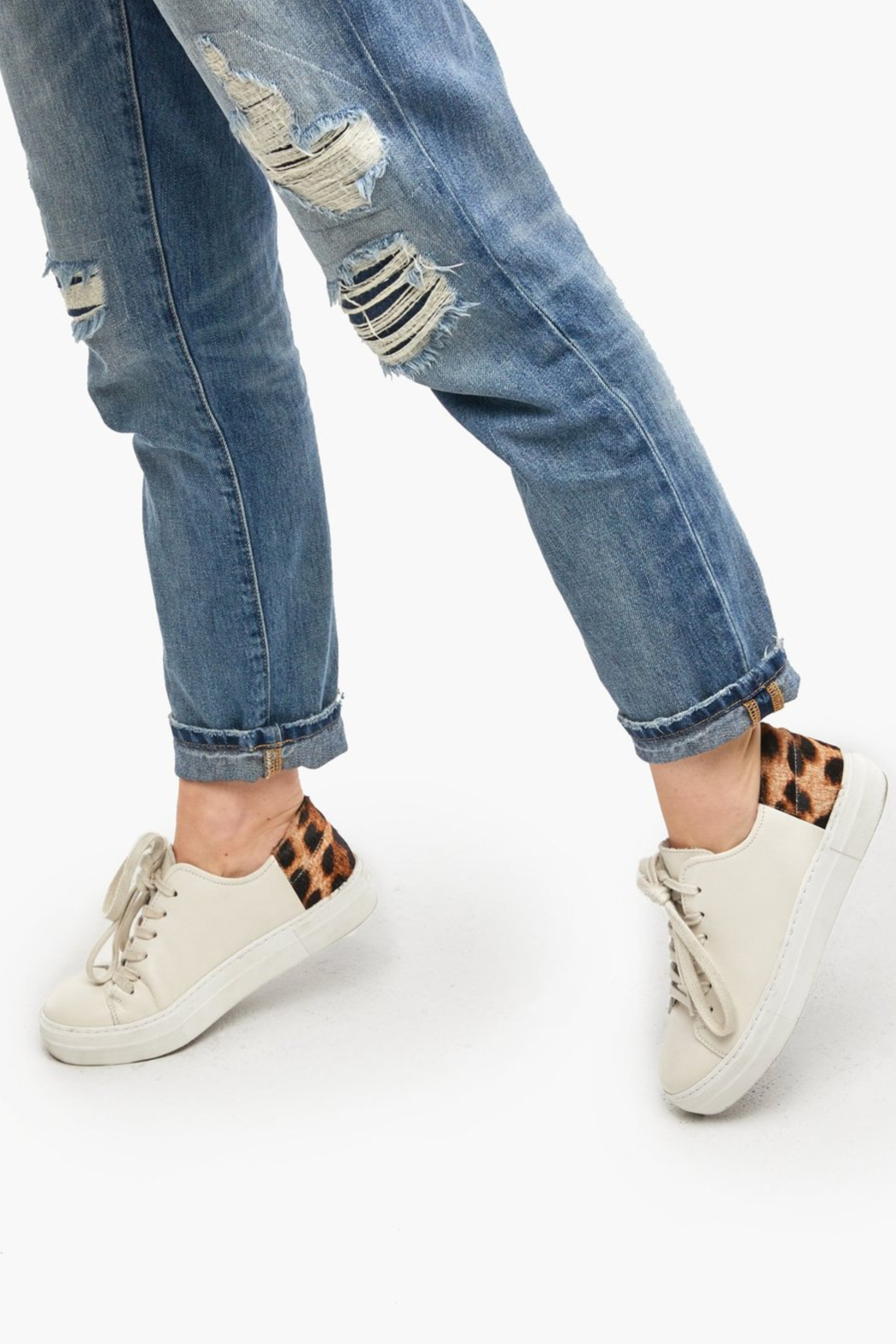 Able Emmy Leopard Sneakers - Front Full Image