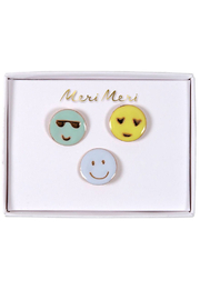 Meri Meri Emoji Pins Set Of 3 - Product Mini Image