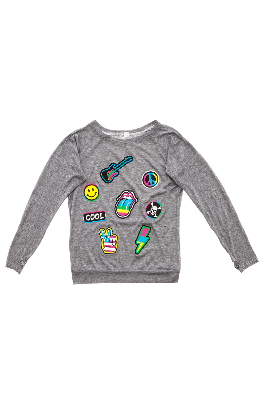 Rock Candy Emoji Super Sweater - Front Cropped Image