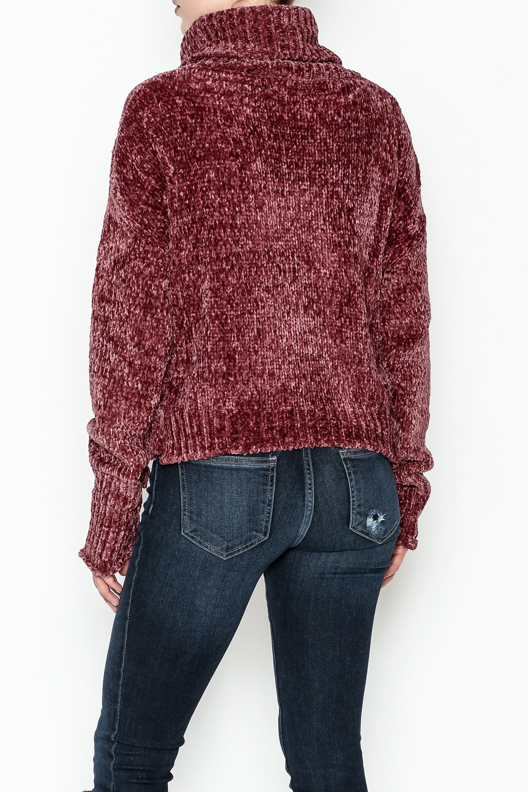 Emory Park Chenille Sweater - Back Cropped Image