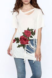 Emory Park Distressed Embroidered Tee - Product Mini Image