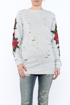 Emory Park Grey Distressed Tunic Sweater - Product List Image